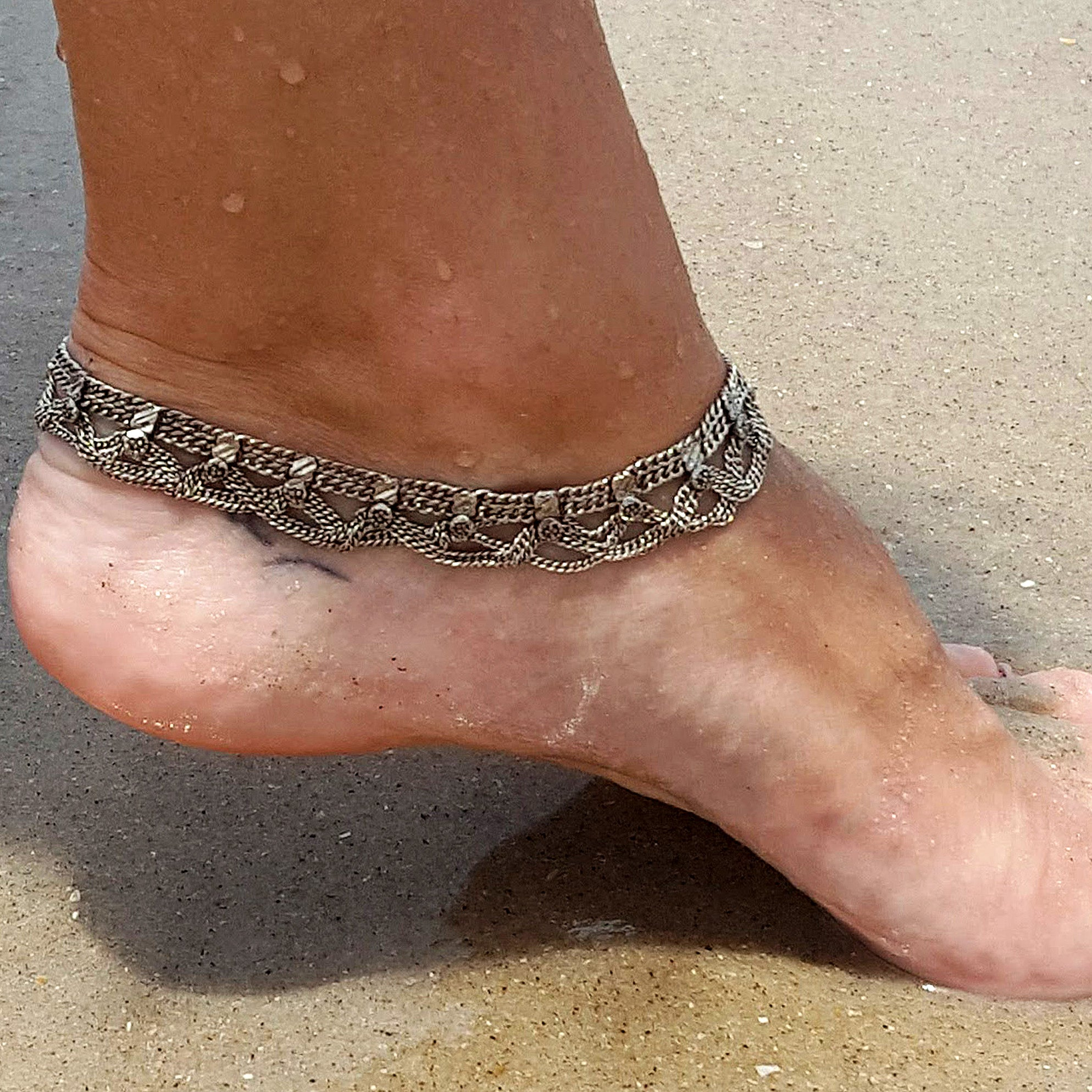 Indian anklet silver