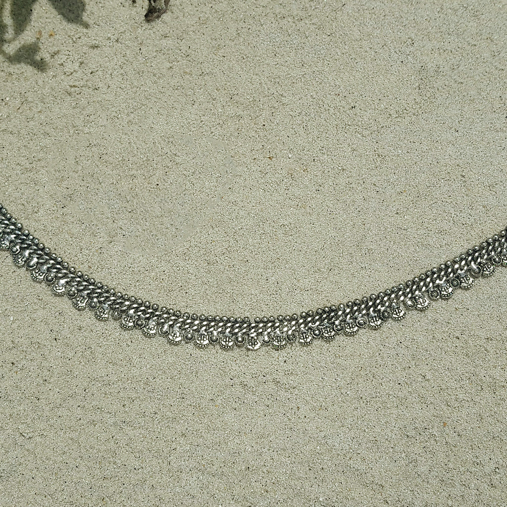 Gypsy anklet silver