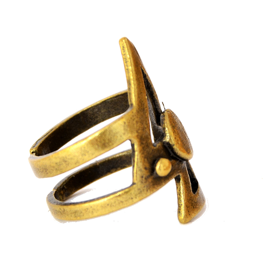 Bohemian arrow ring