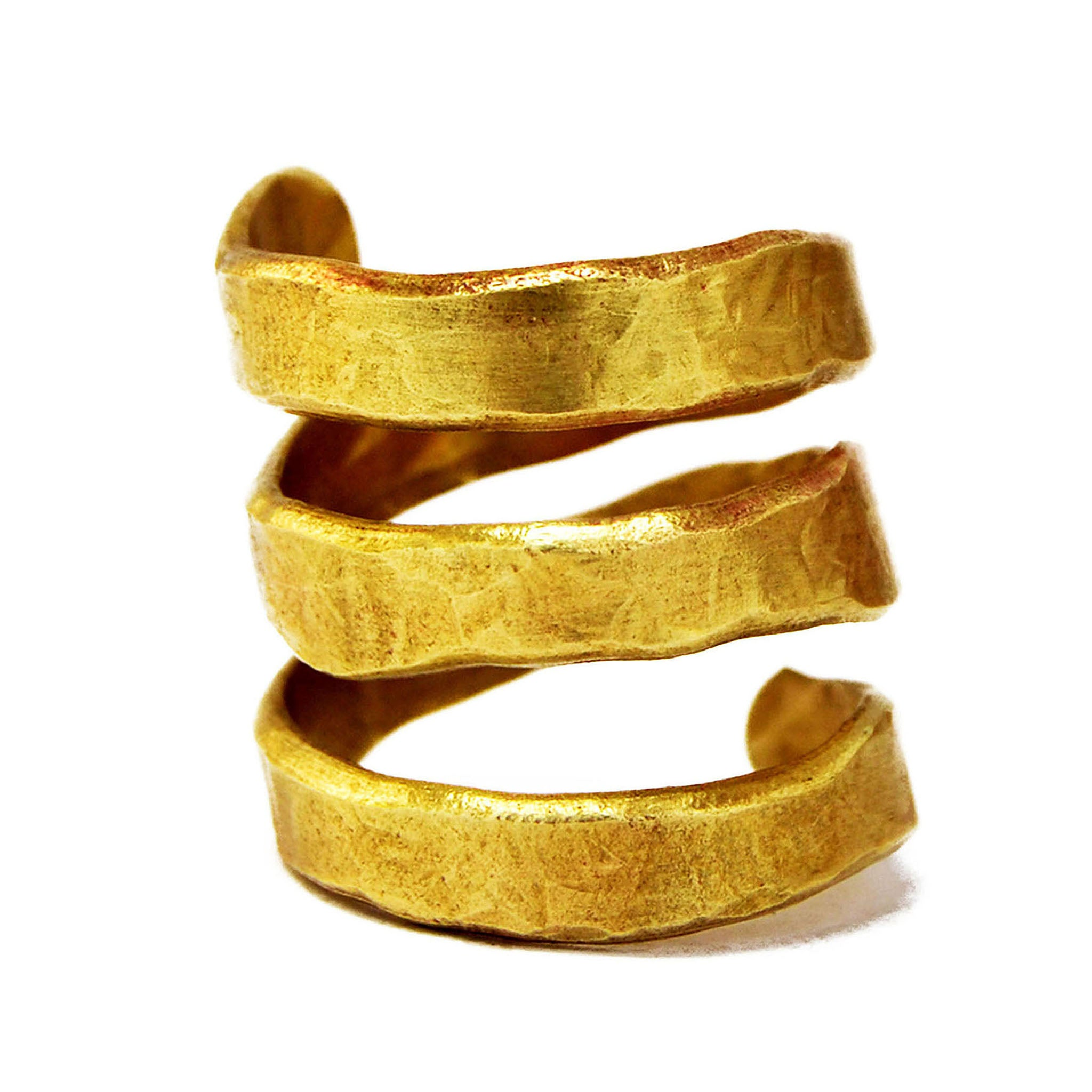 Spiral brass ring