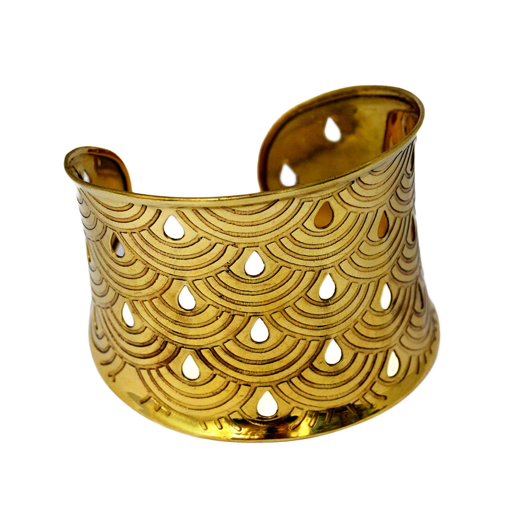 Brass tribal bracelet