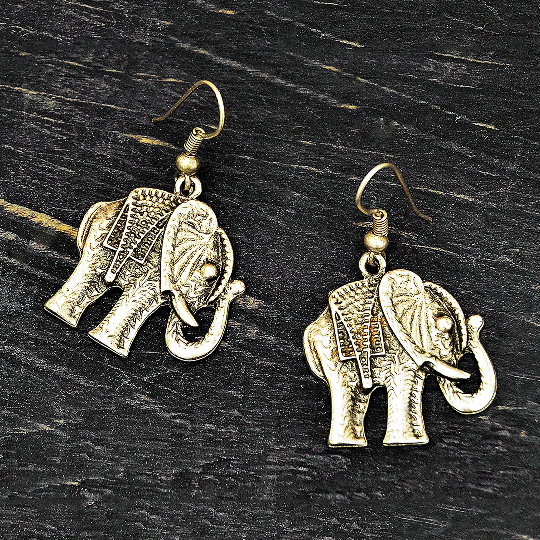 Hippie elephant earrings