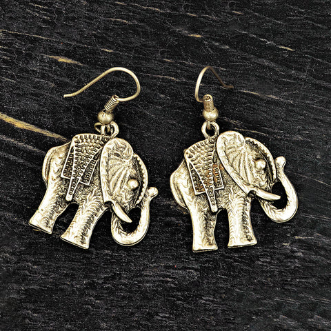 Elephant Silver Earrings