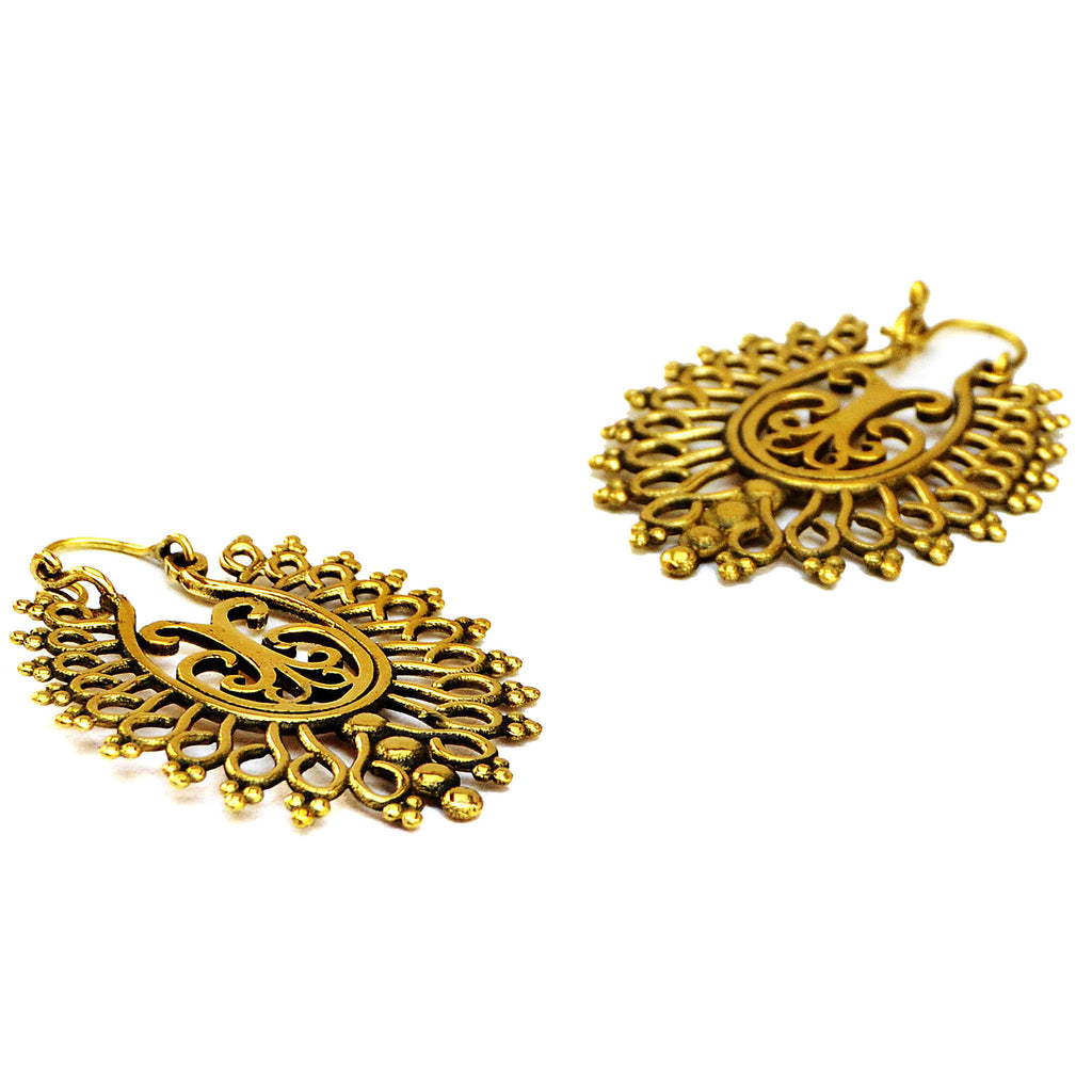Gold indian earrings