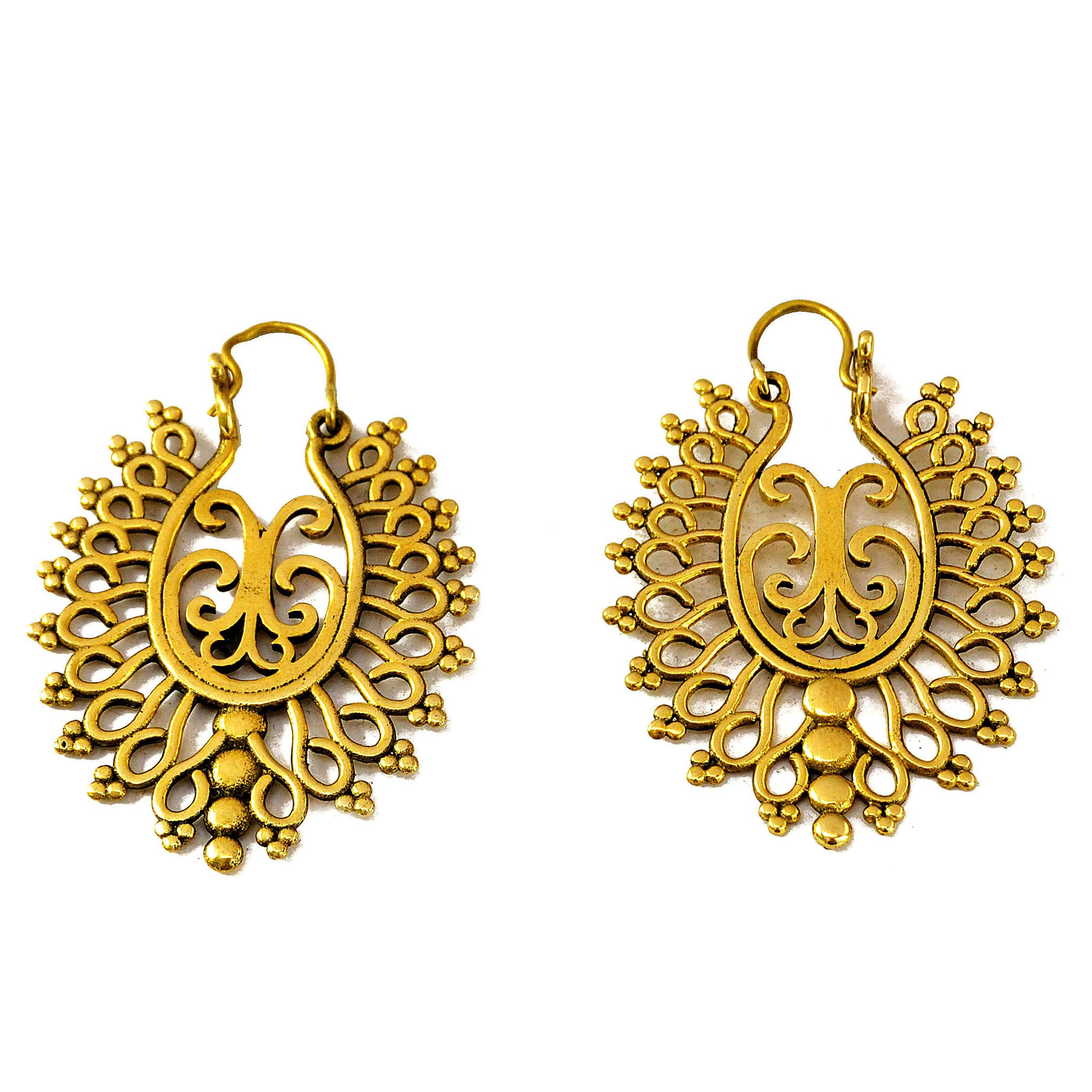 Antique indian earrings
