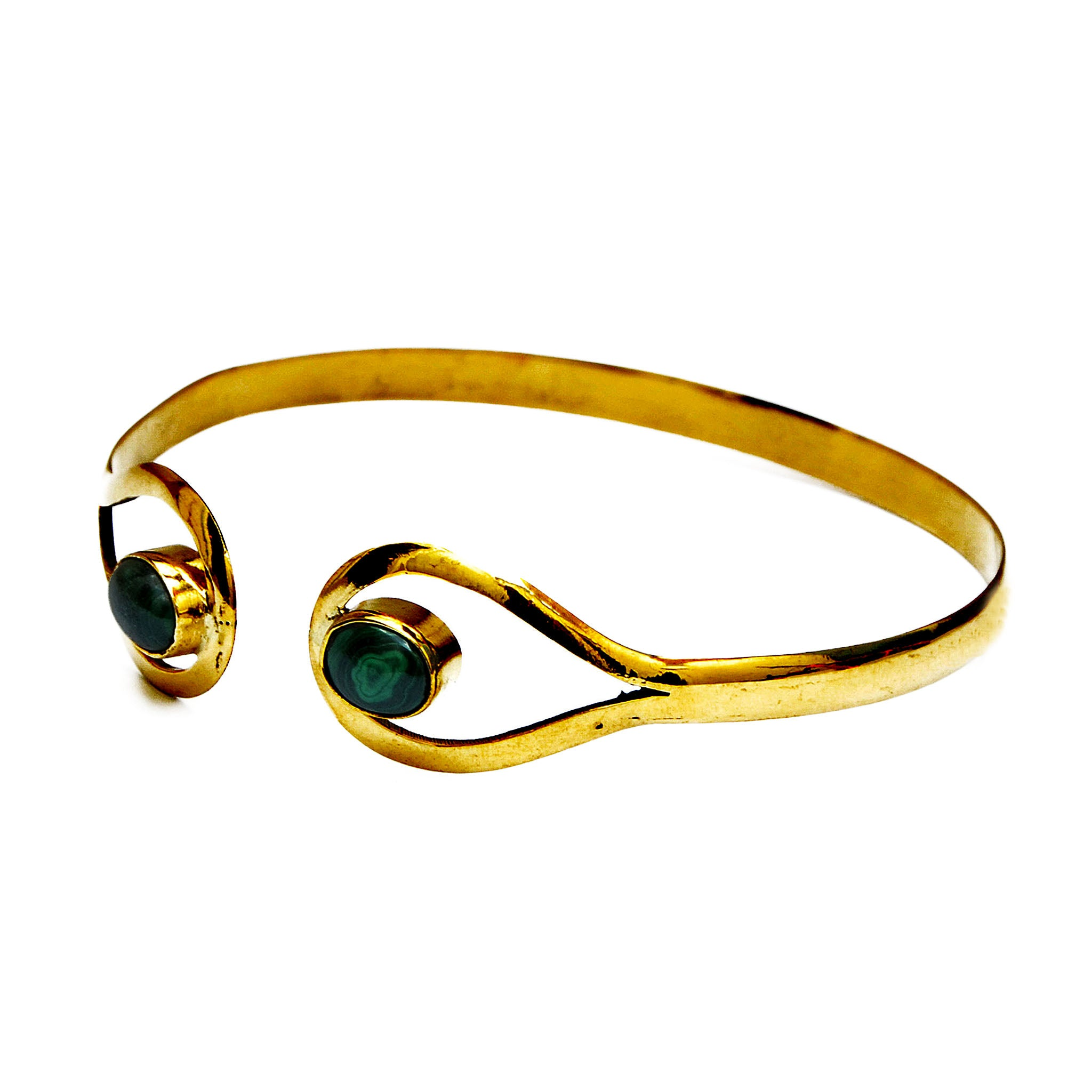 Gold armlet with stones