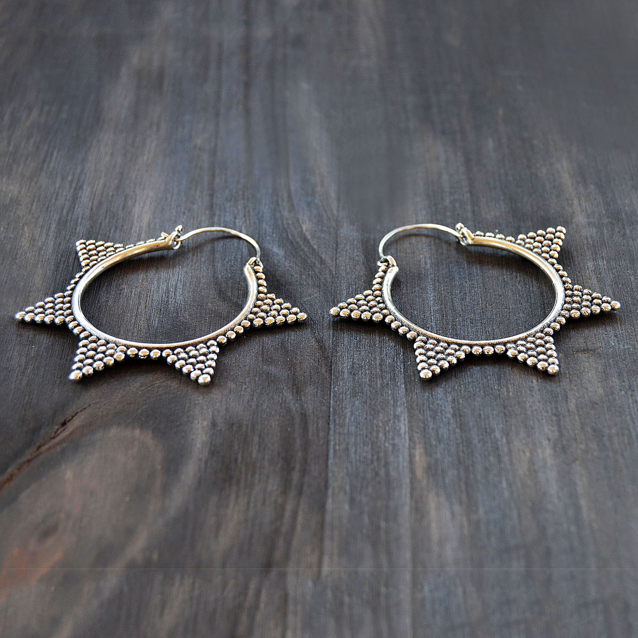 Large banjara round earrings