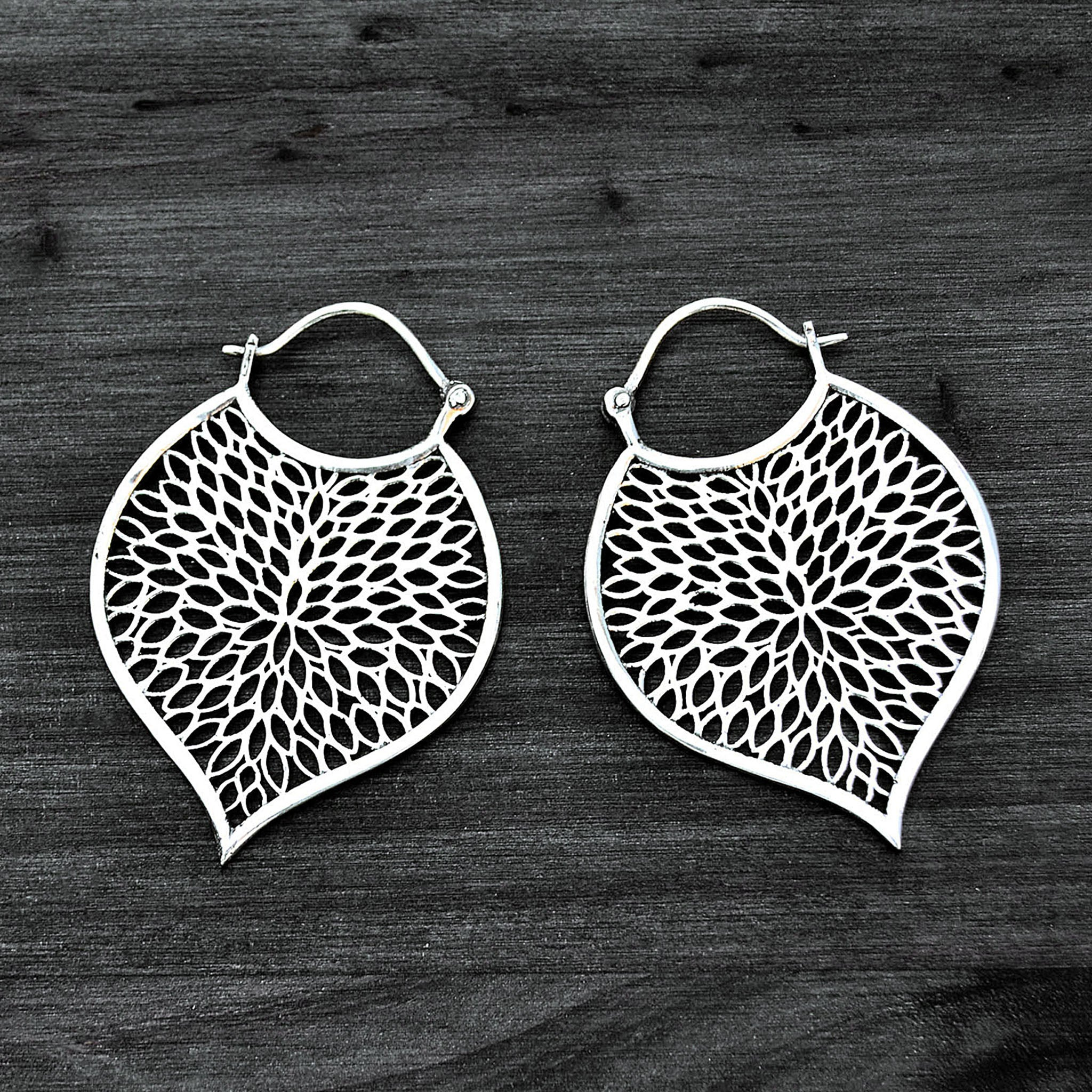 Leaf tribal earrings