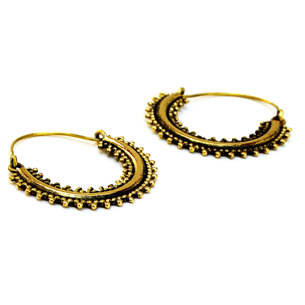Rajasthani hoop earrings