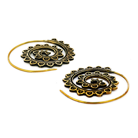 Belly Dance Spiral Earrings