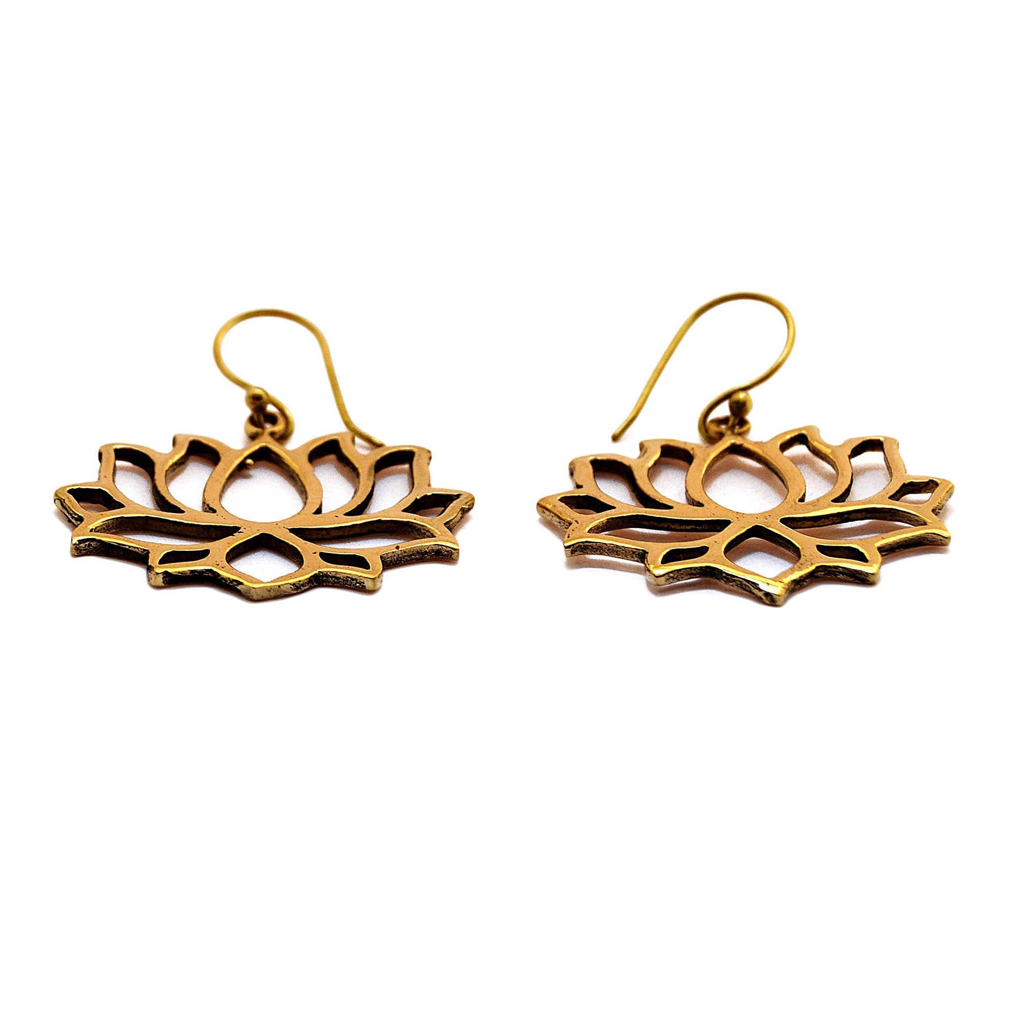 Indian lotus earrings