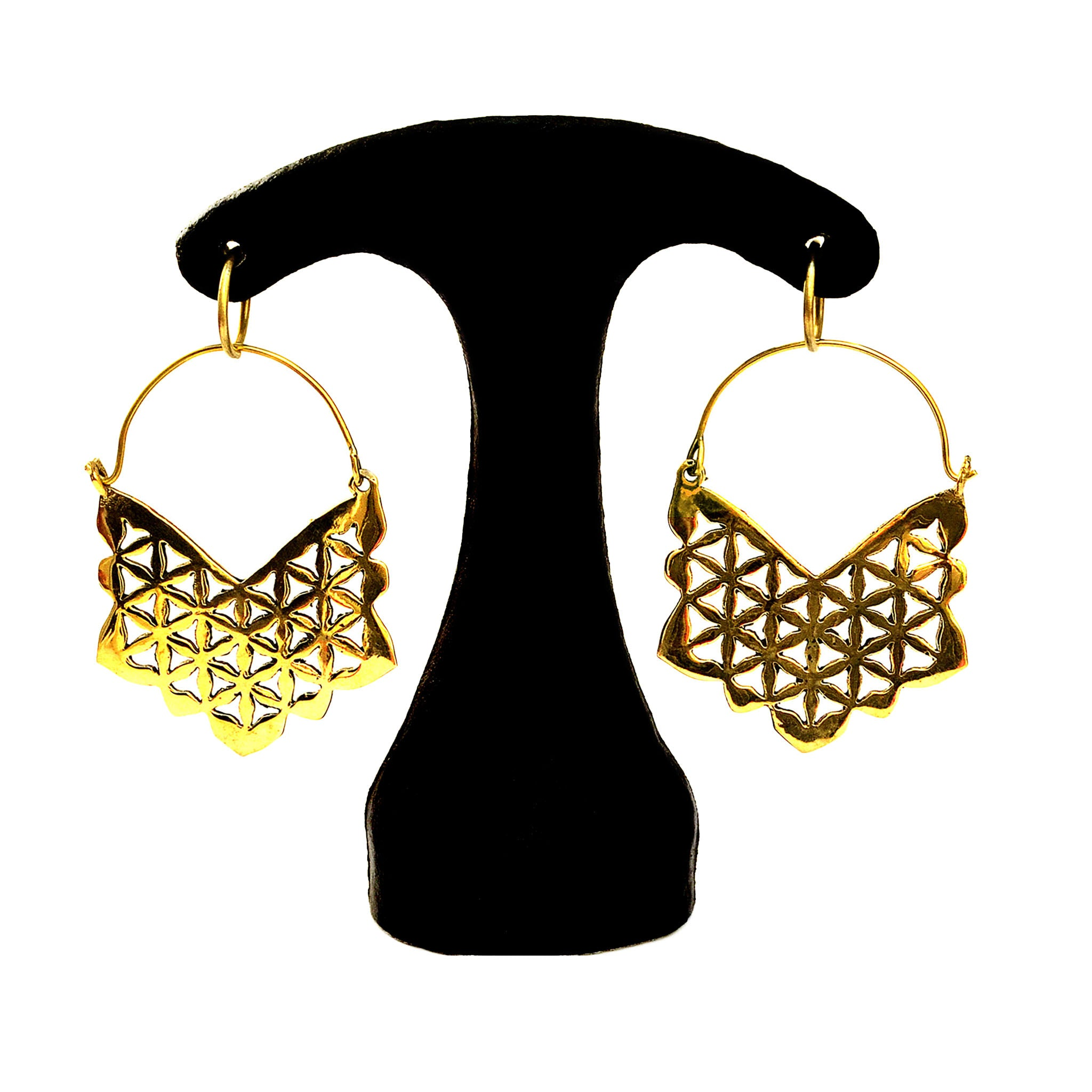 Indian geometric earrings