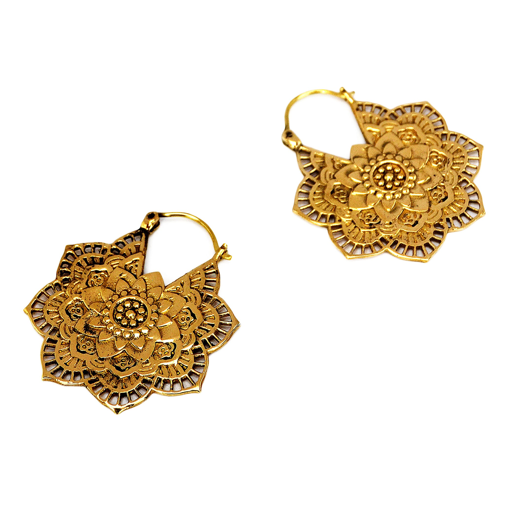 Indian flower earrings