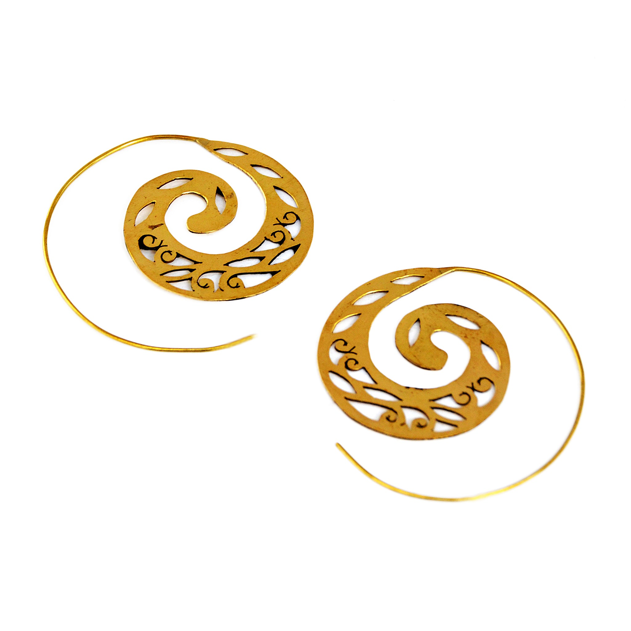 Sawed Spiral Earrings