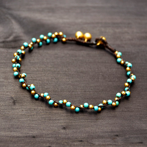 Beaded Turquoise Anklet