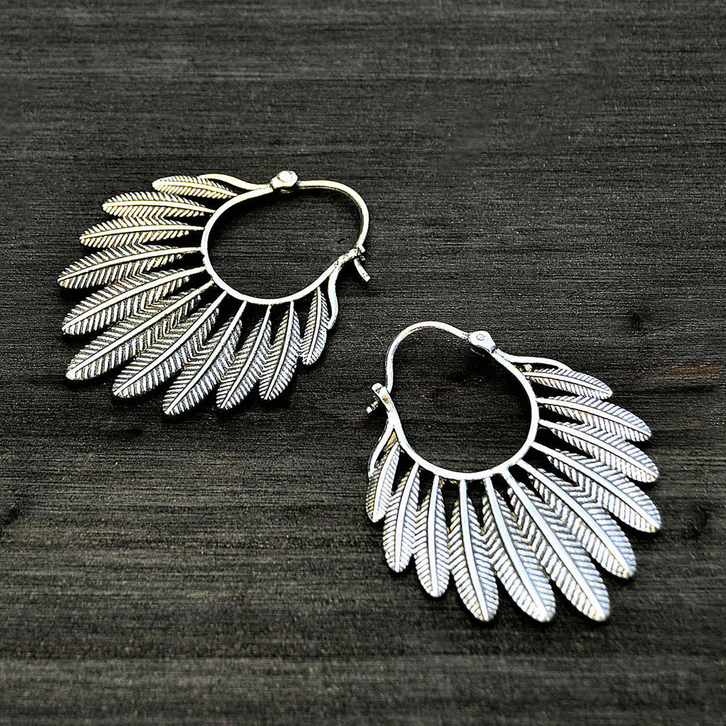 Gypsy feather earrings