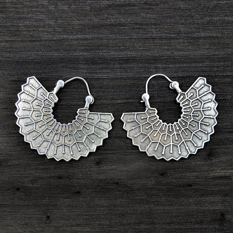 Tribal Mexican Fan Earrings