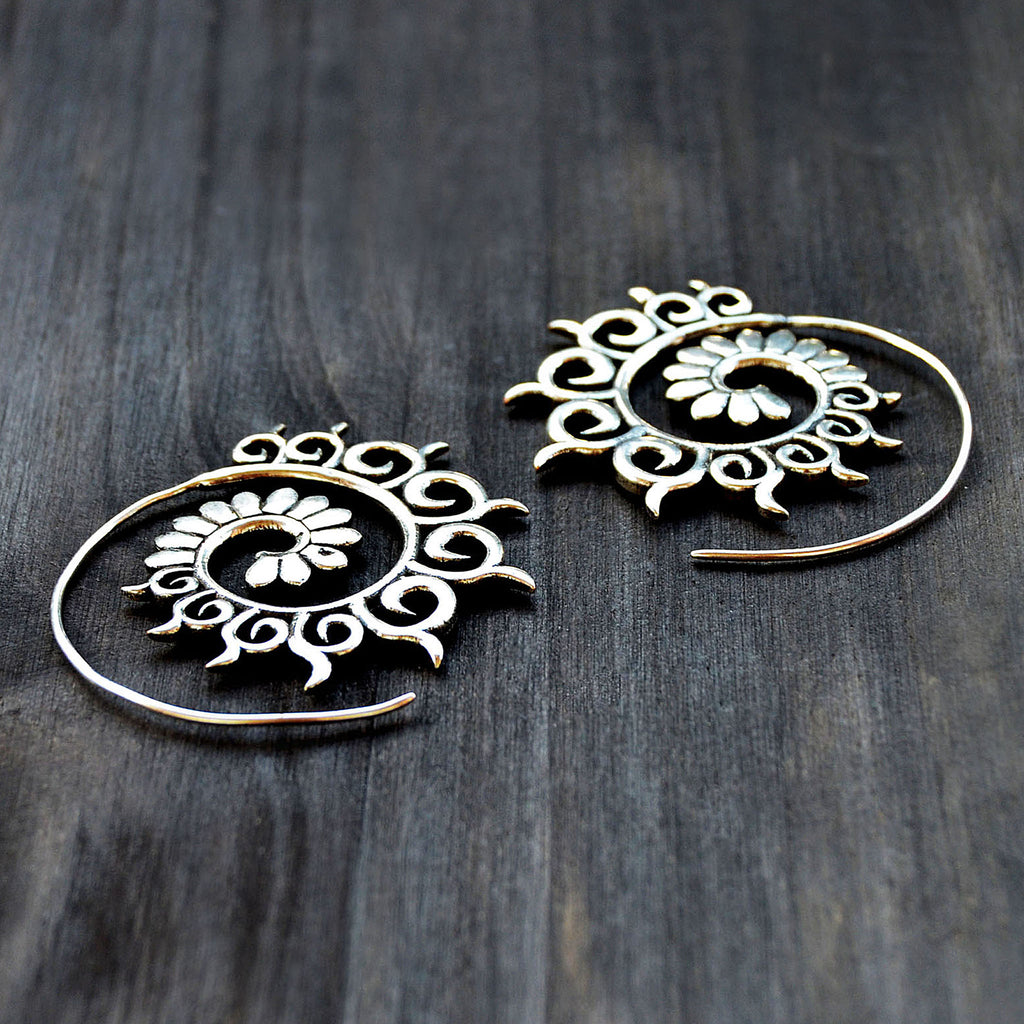Spiral hook earrings