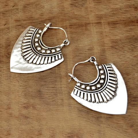 Aztec Silver Earrings