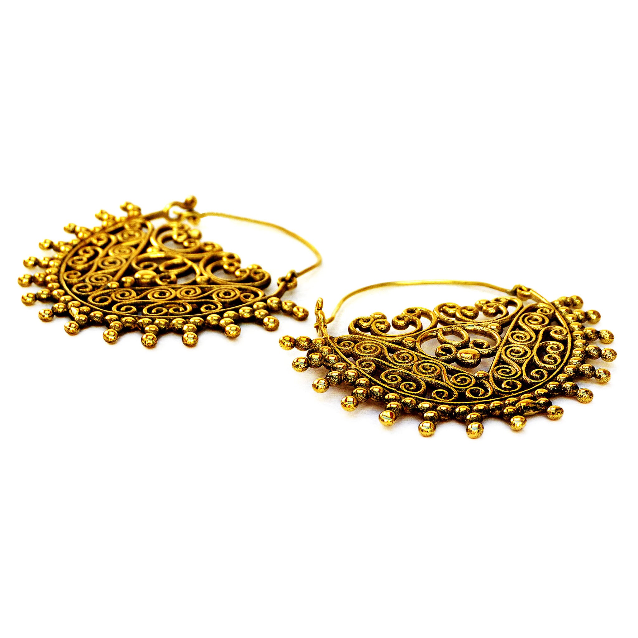 Gold ethnic earrings