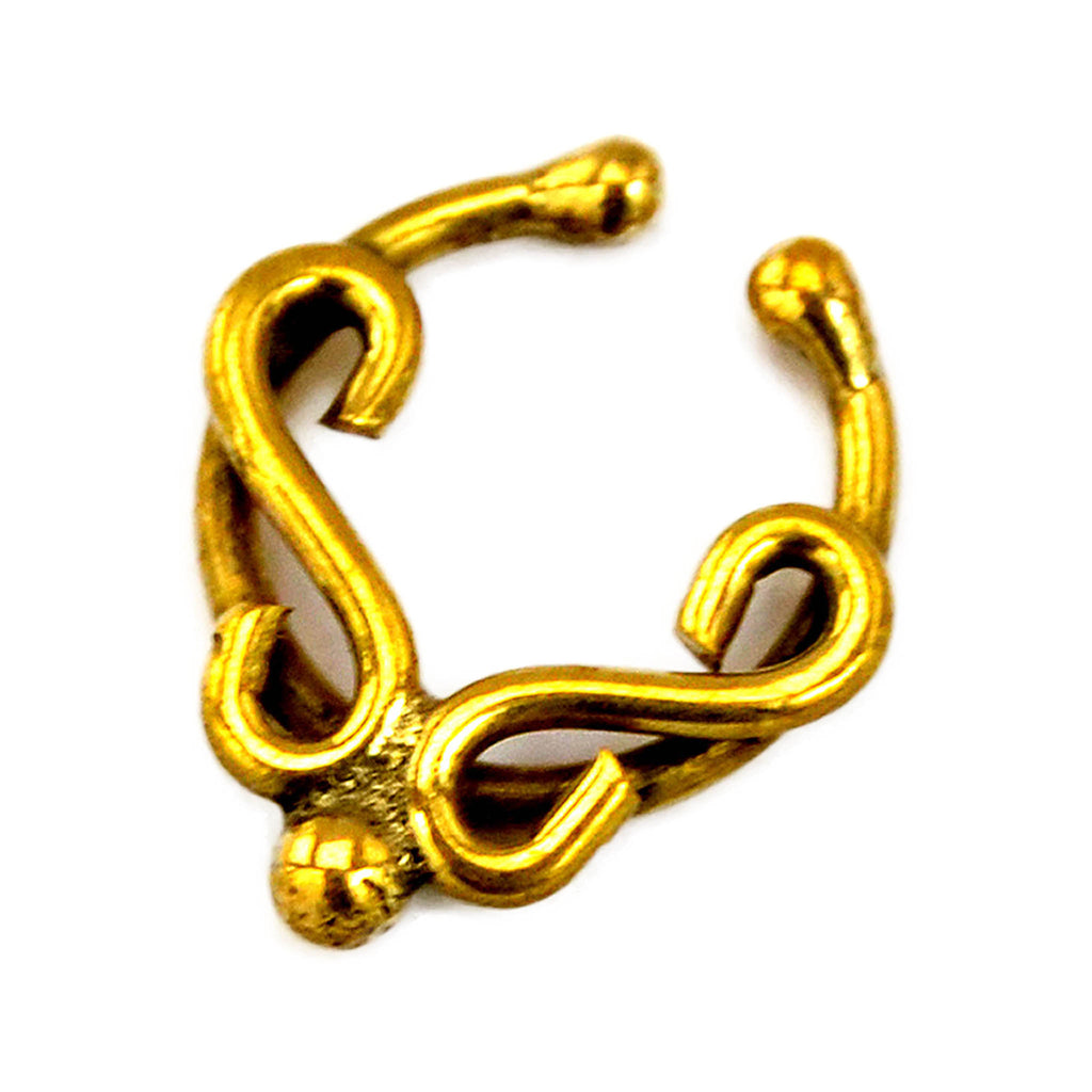 Brass nose ring