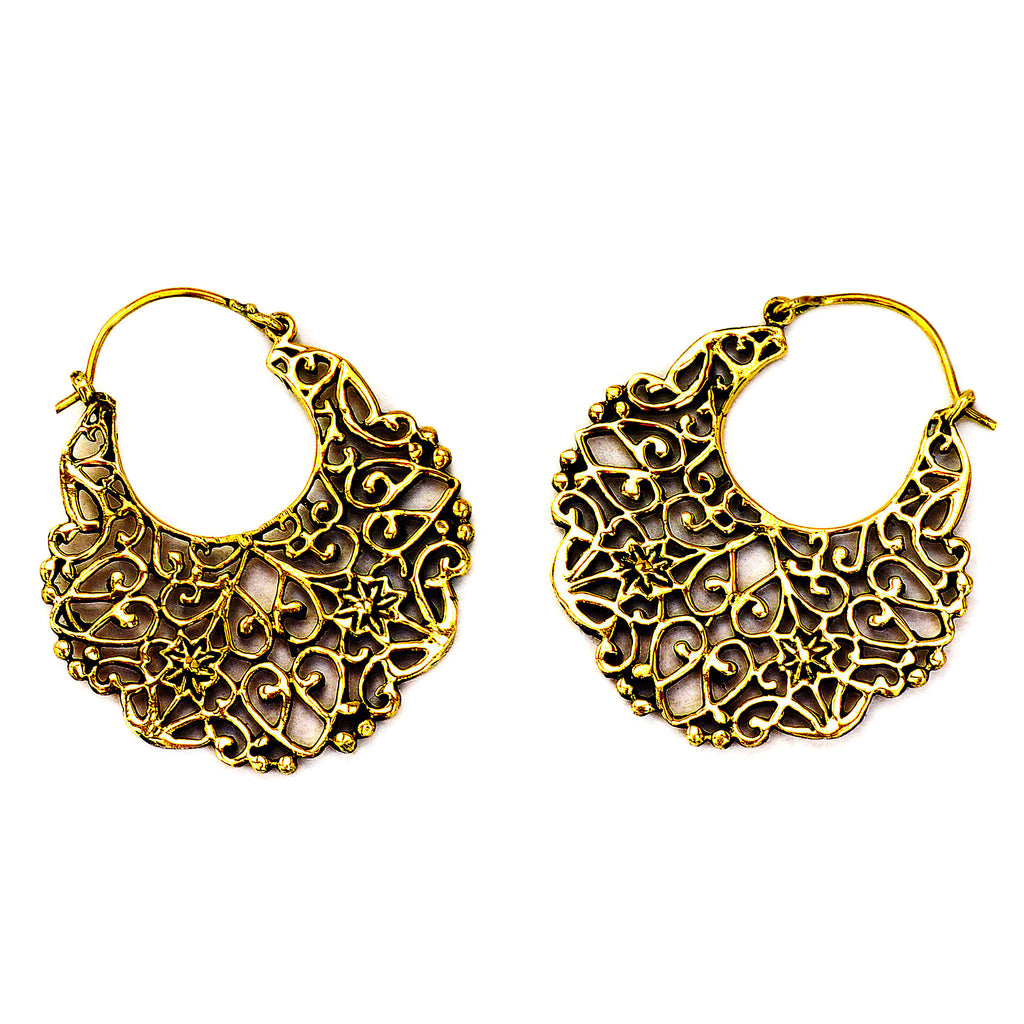 Gypsy brass earrings
