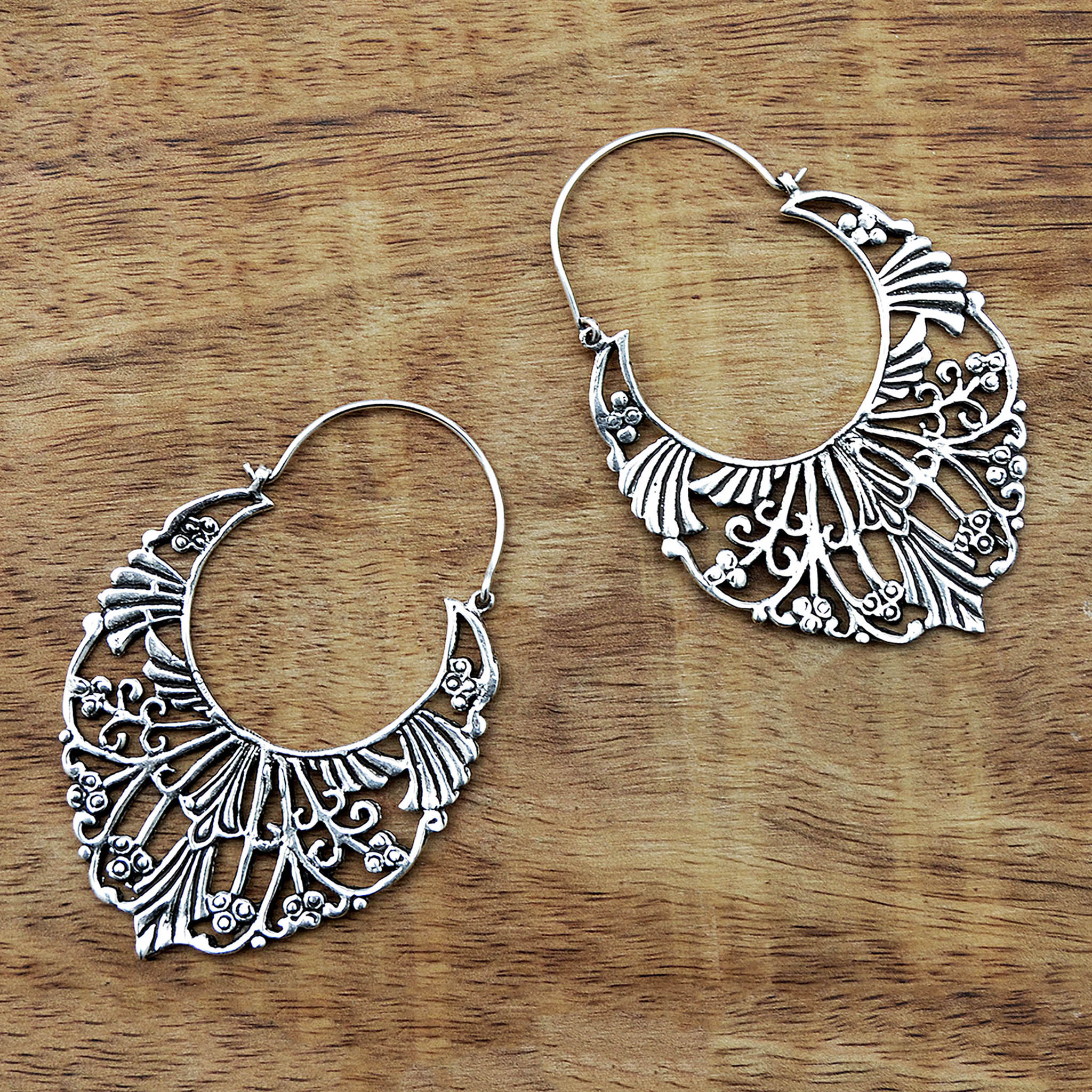 Large Vintage Boho Earrings