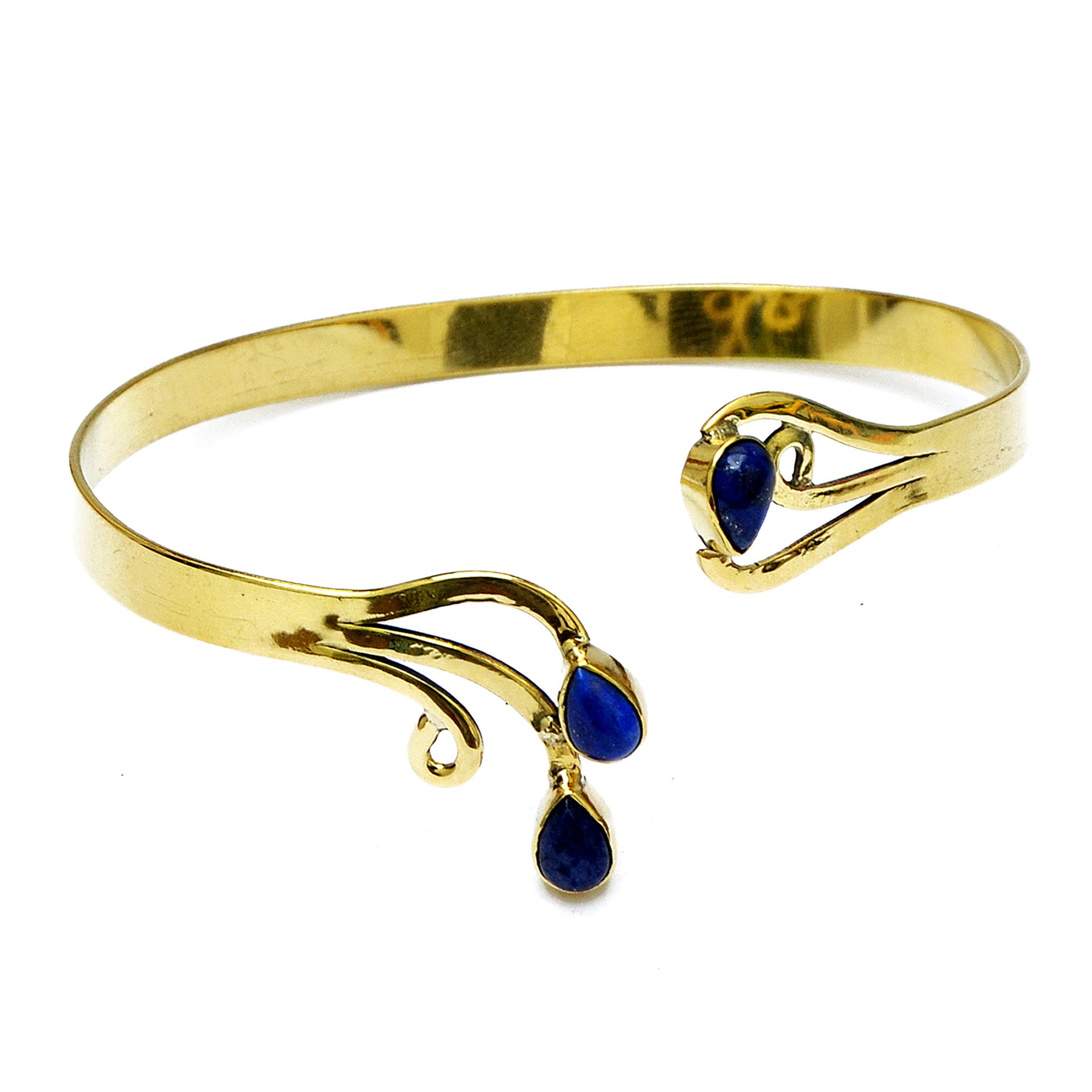 Ethnic bracelet with lapis