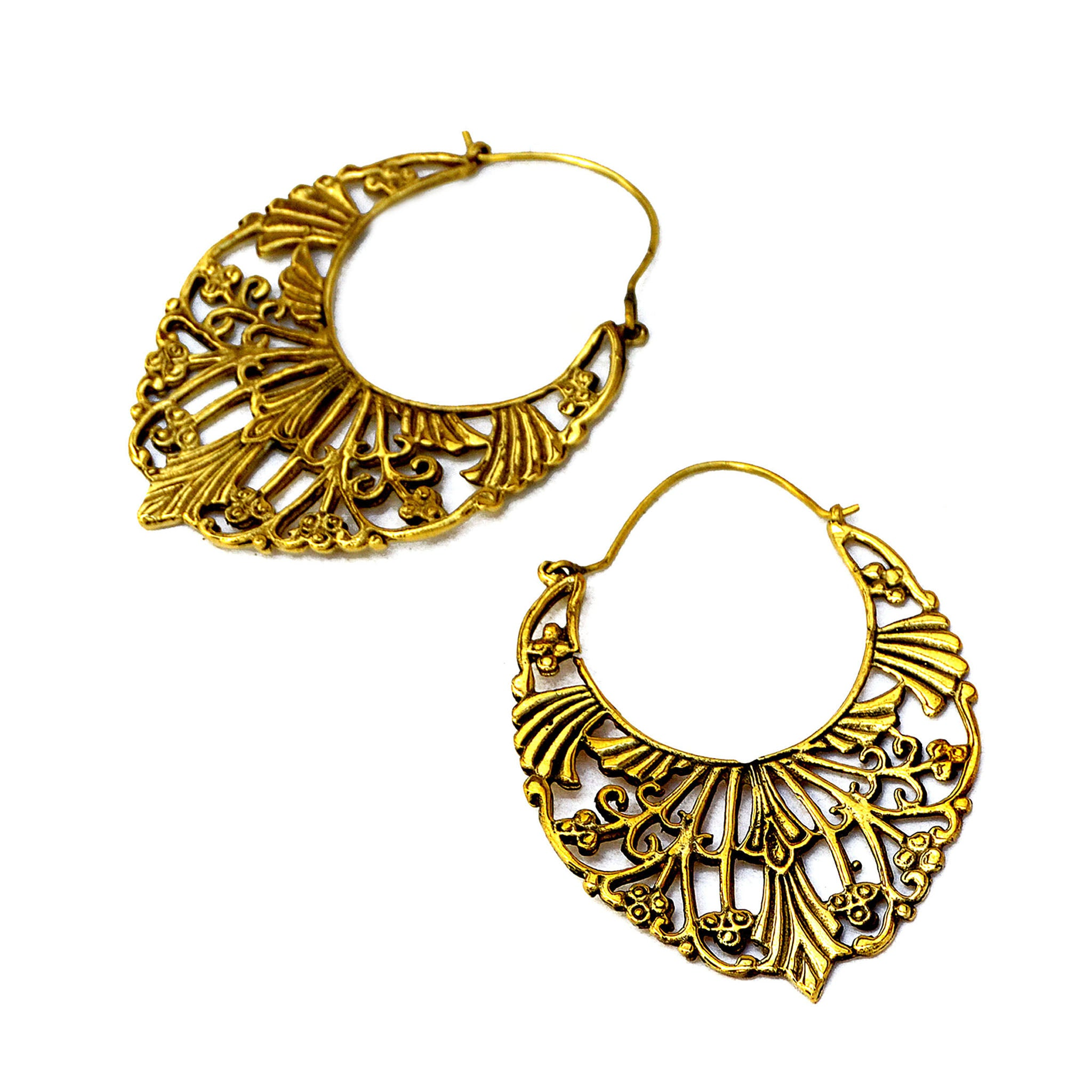 Ethnic indian hoop earrings