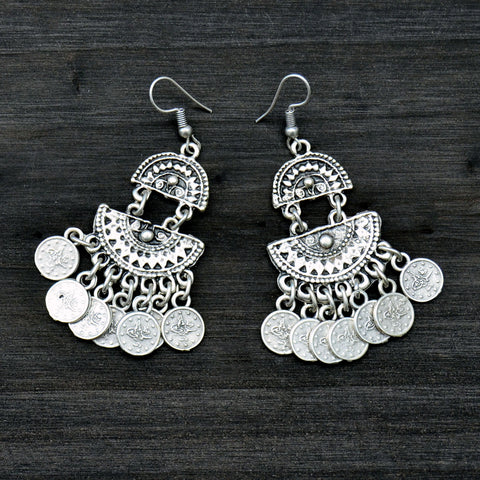 Silver Turkish Chandelier Earrings