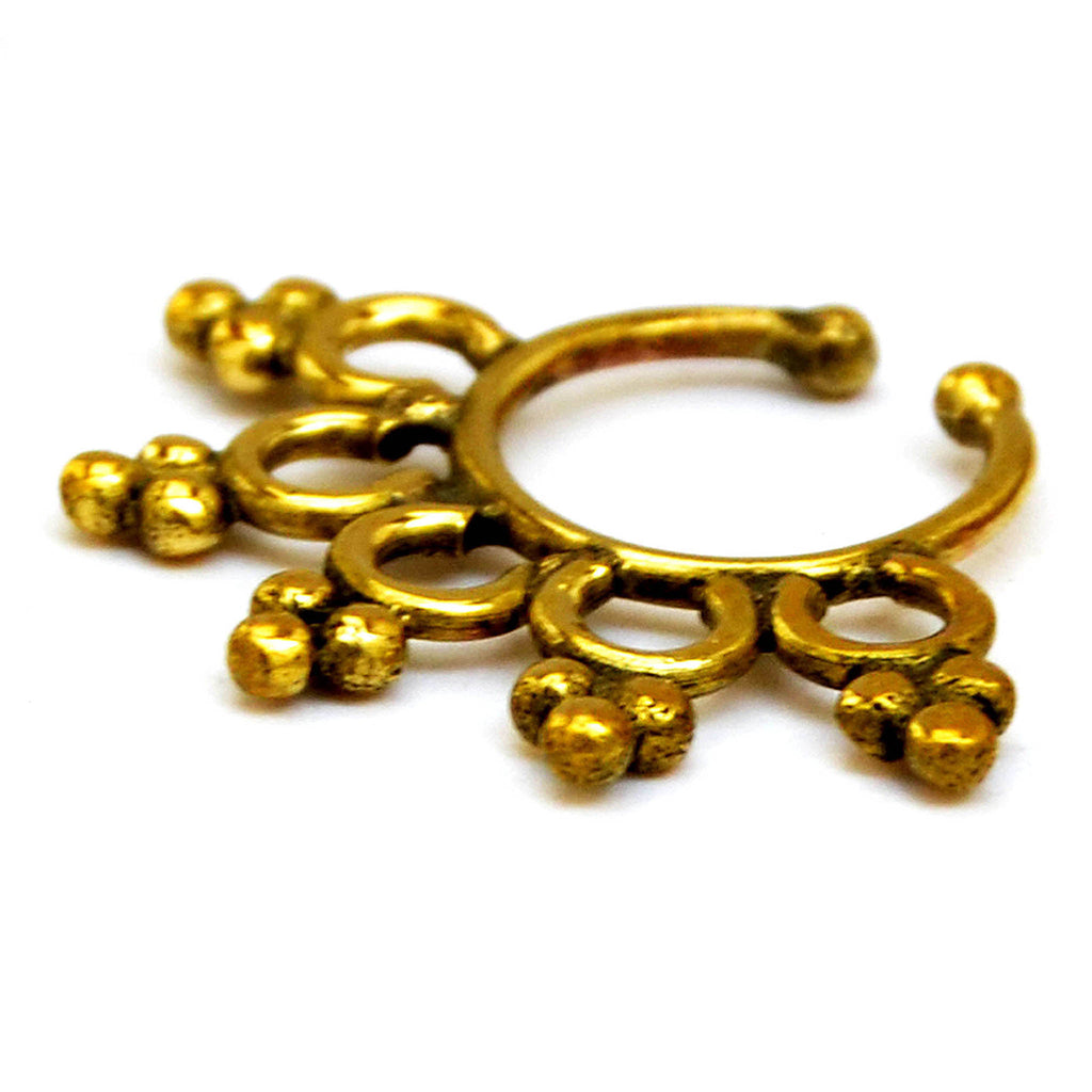 Gold Fake Septum Ring