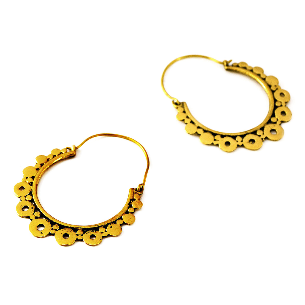 Bohemian hoop earrings
