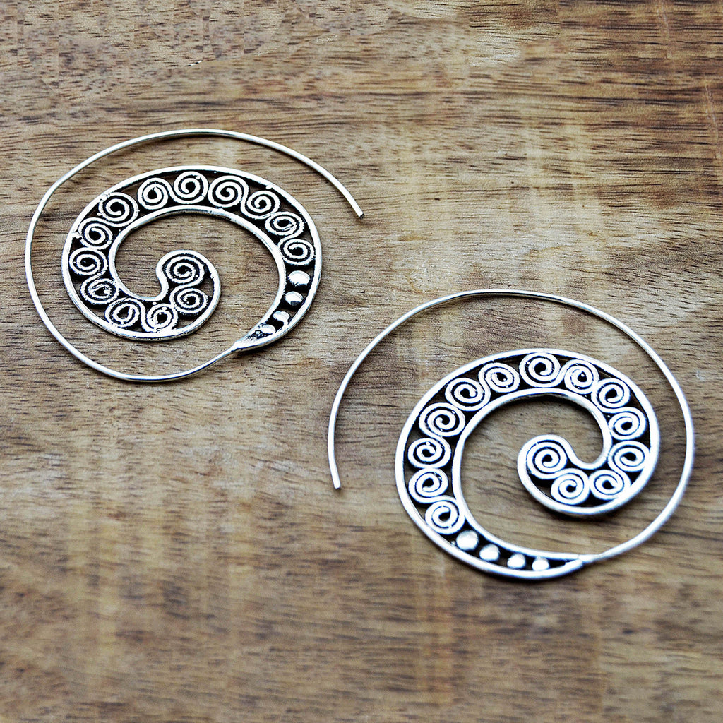 Festival hoop earrings