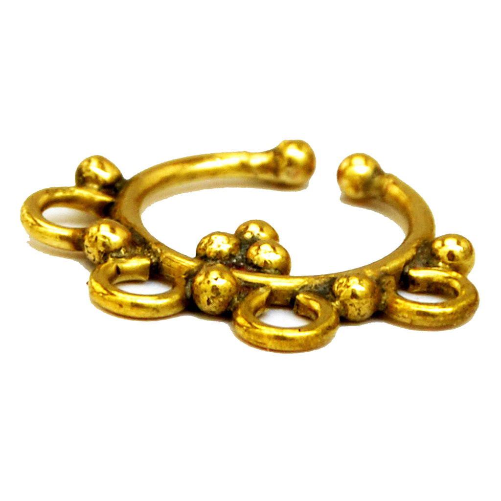 Indian brass septum
