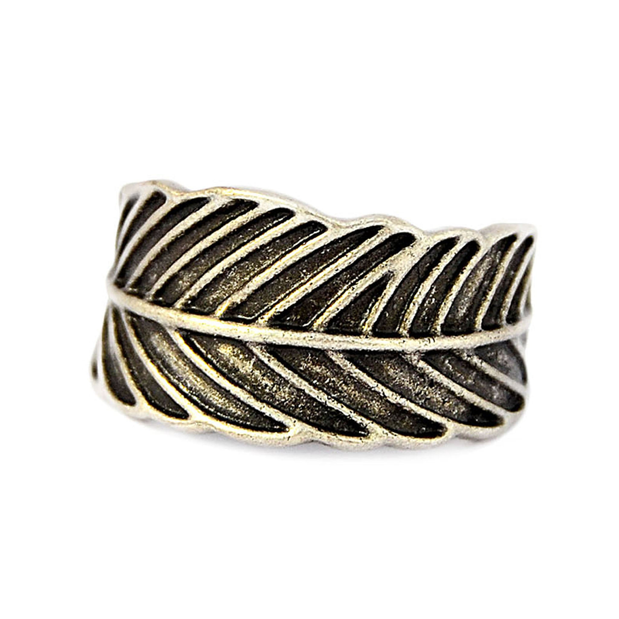 Tribal feather ring
