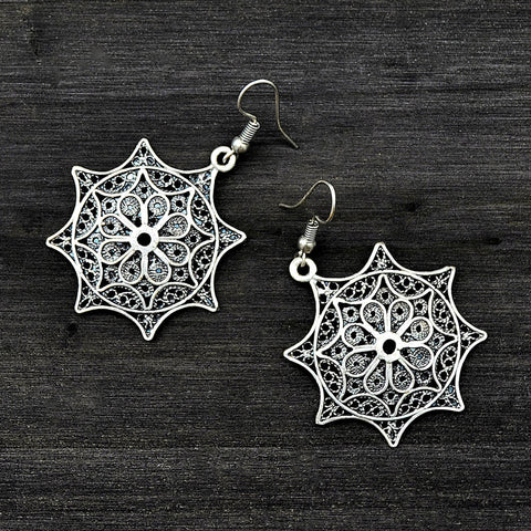 Filigree Mandala Earrings