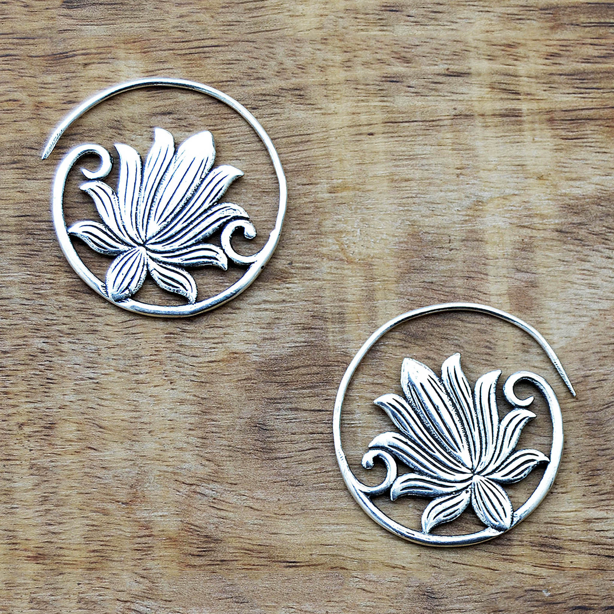 Ethnic lotus earrings