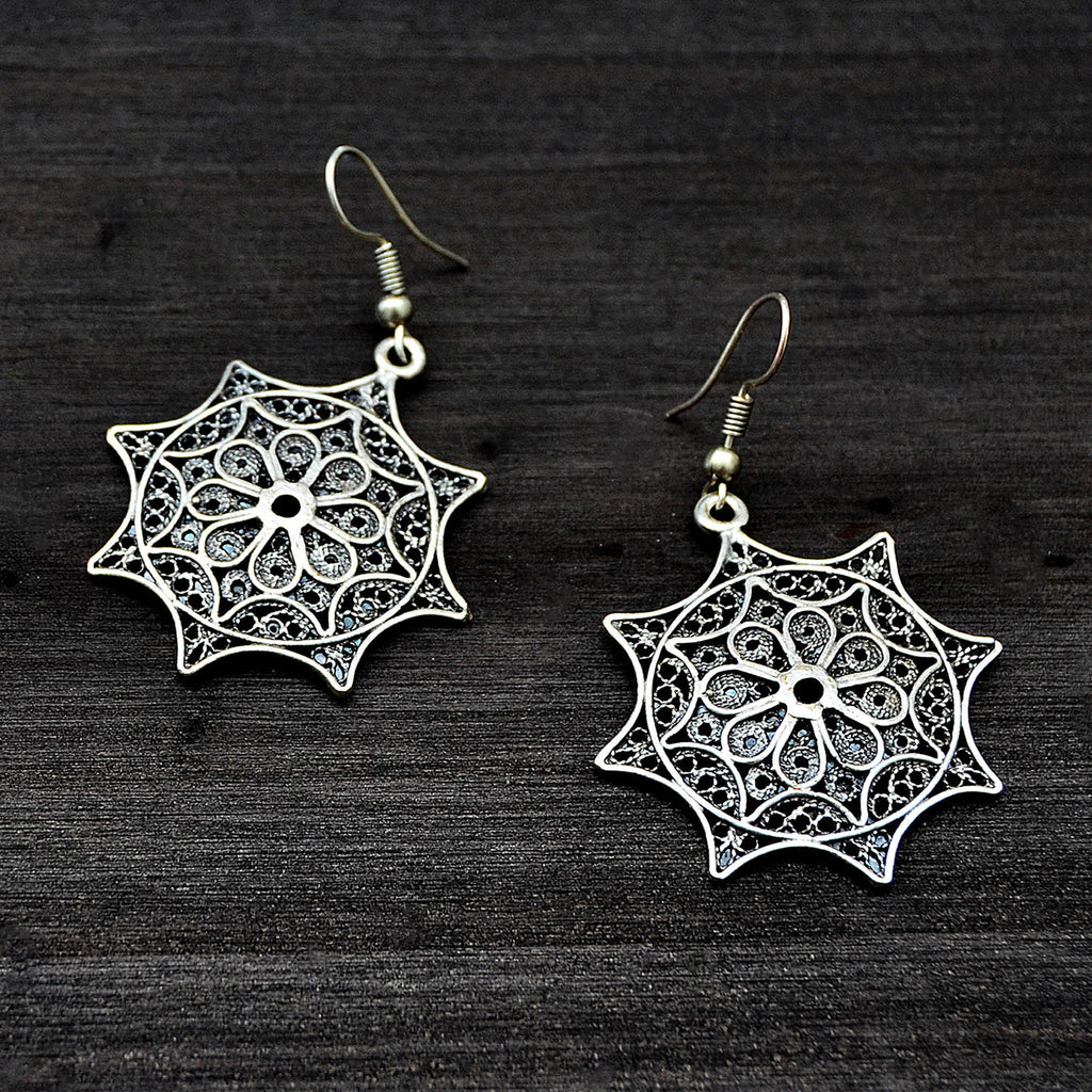 Silver nomad earrings