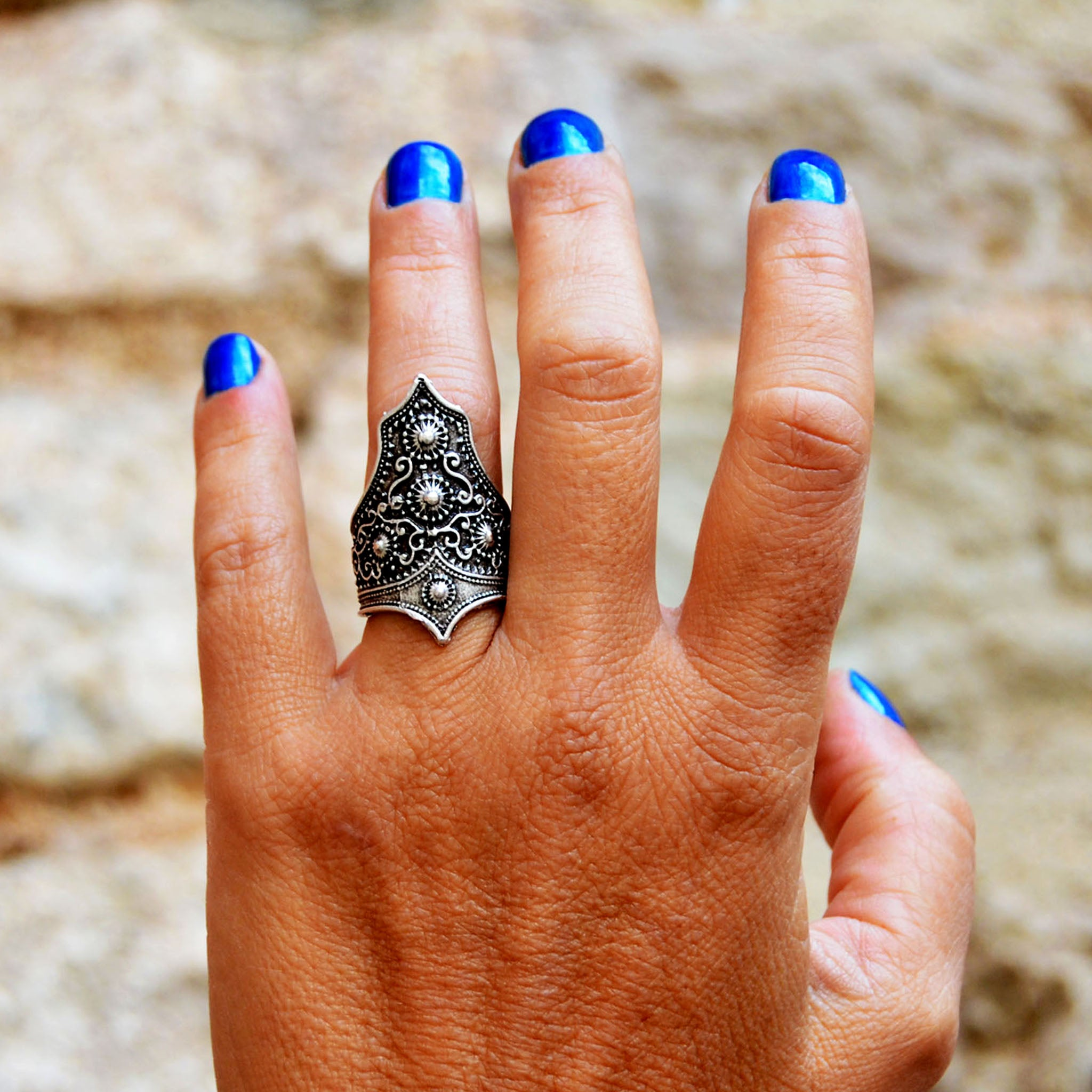 Large ethnic ring