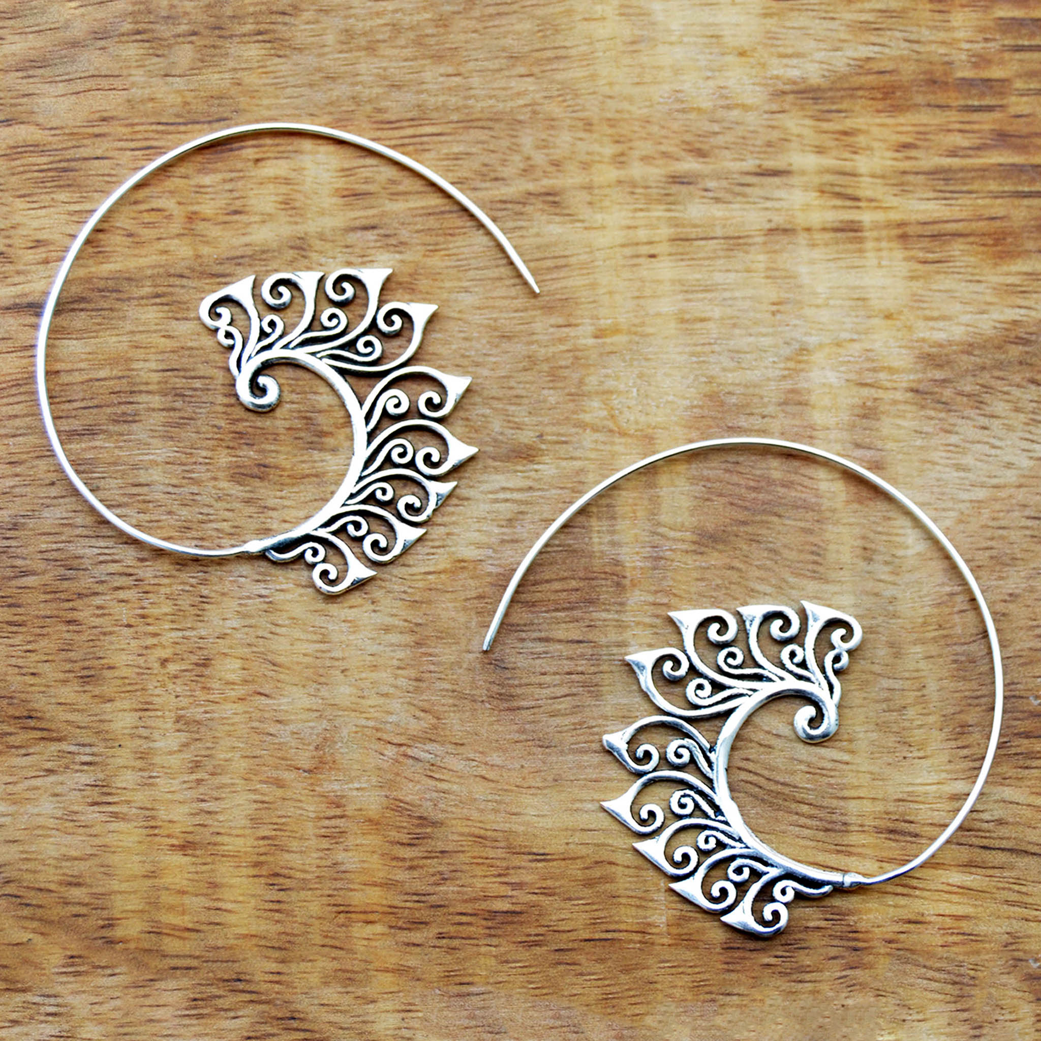 Gypsy floral earrings silver