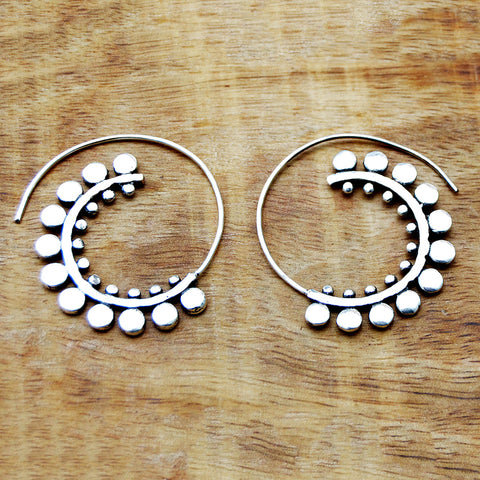 Spiral Tribal Earrings