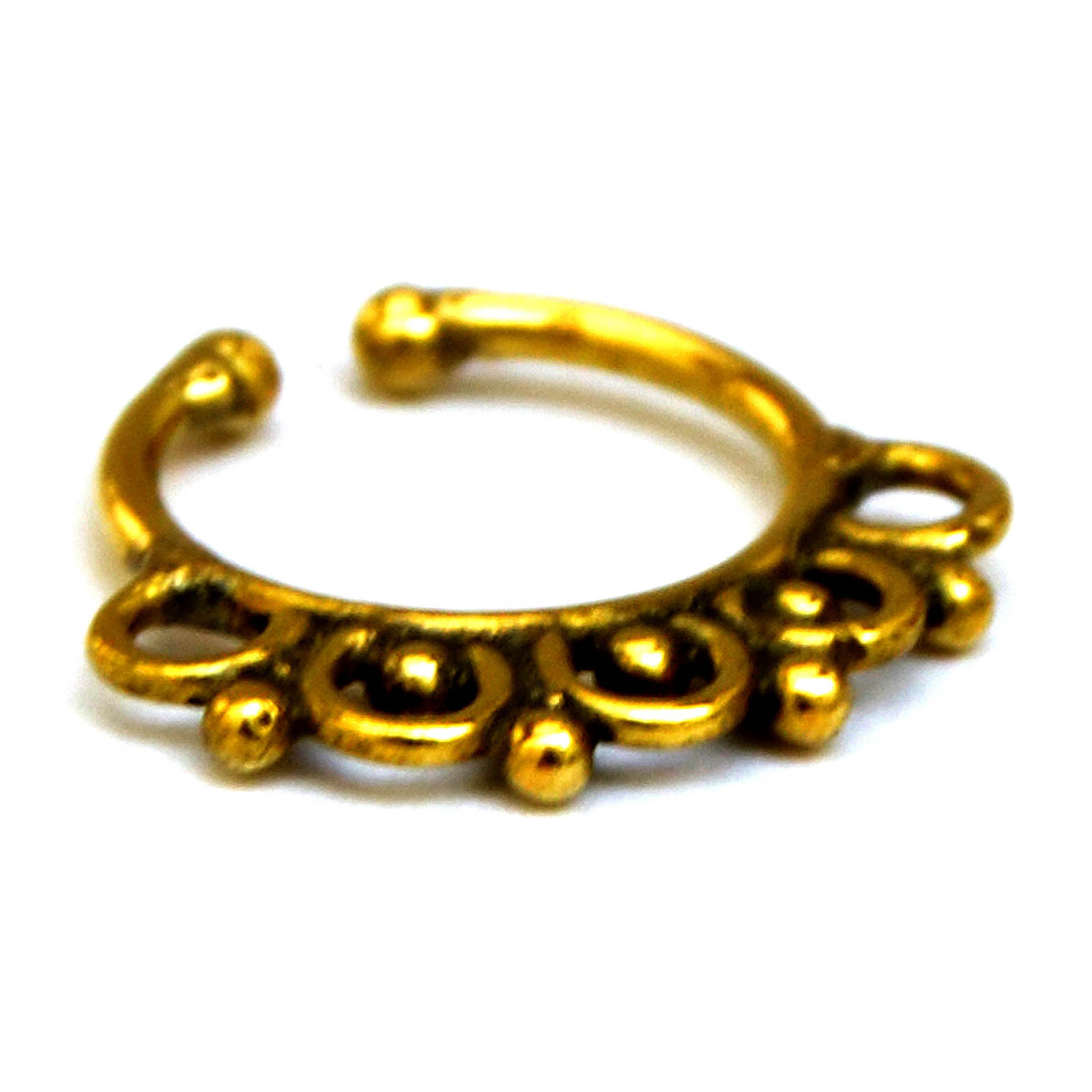 Gold Septum Nose Ring