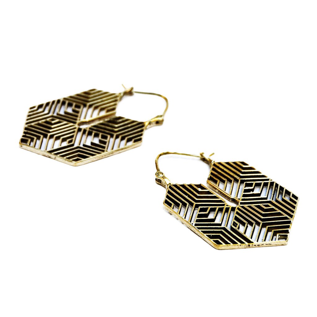 Tribal geometric earrings
