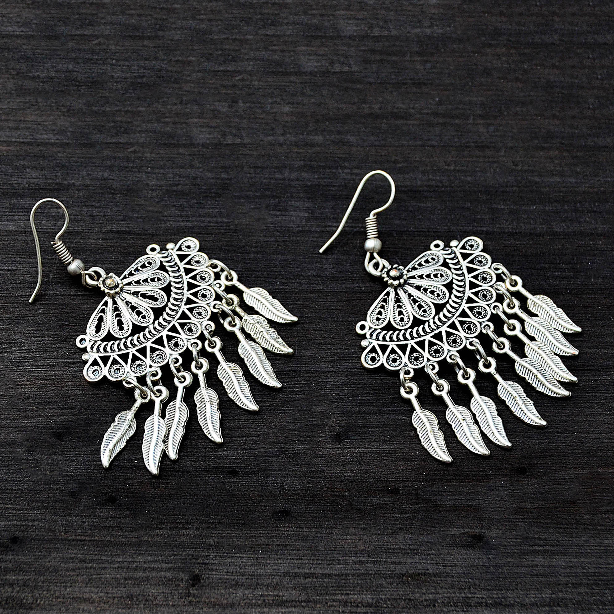 Traditional tribal earrings