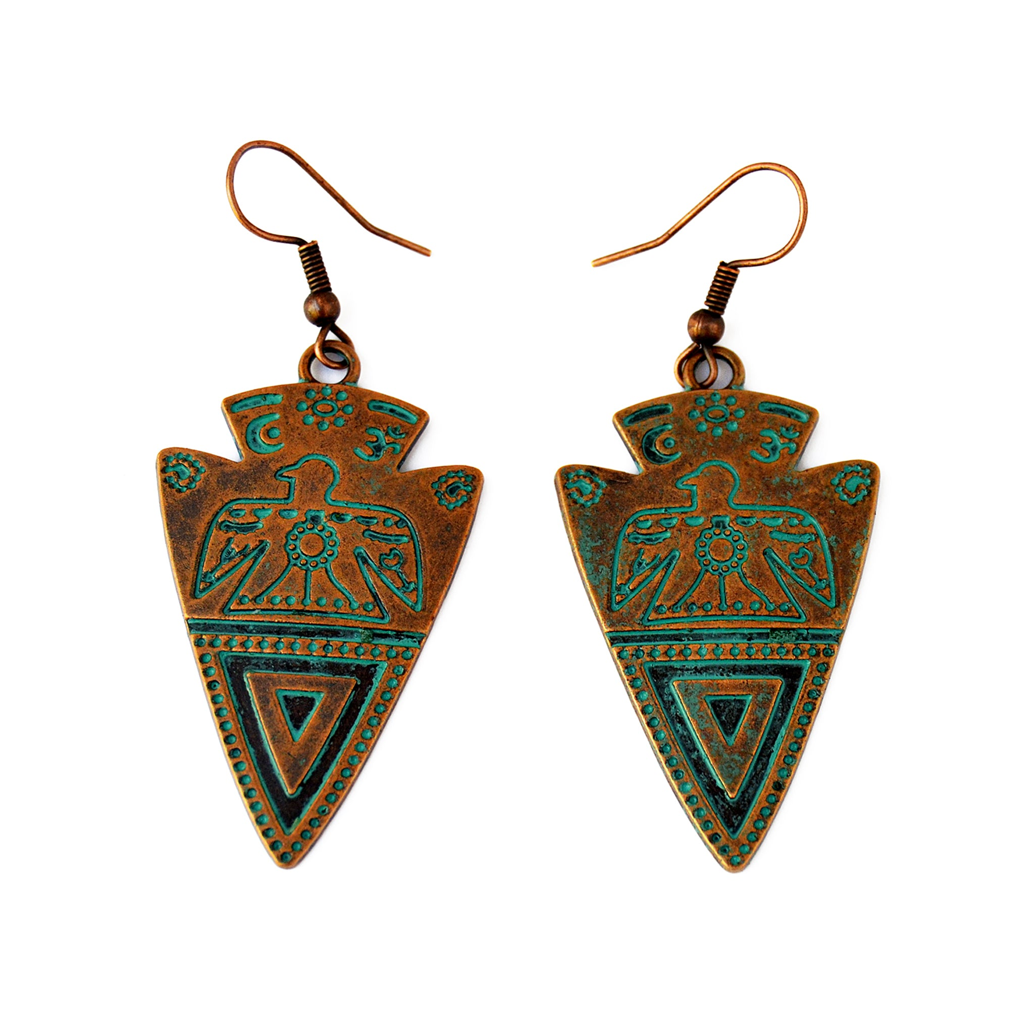 Tribal aztec earrings