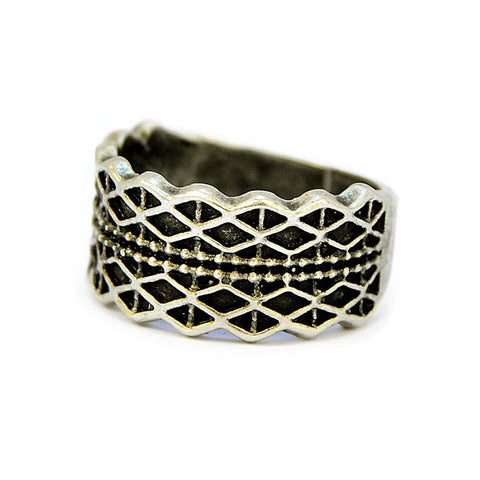 Antique Silver Geometric Ring