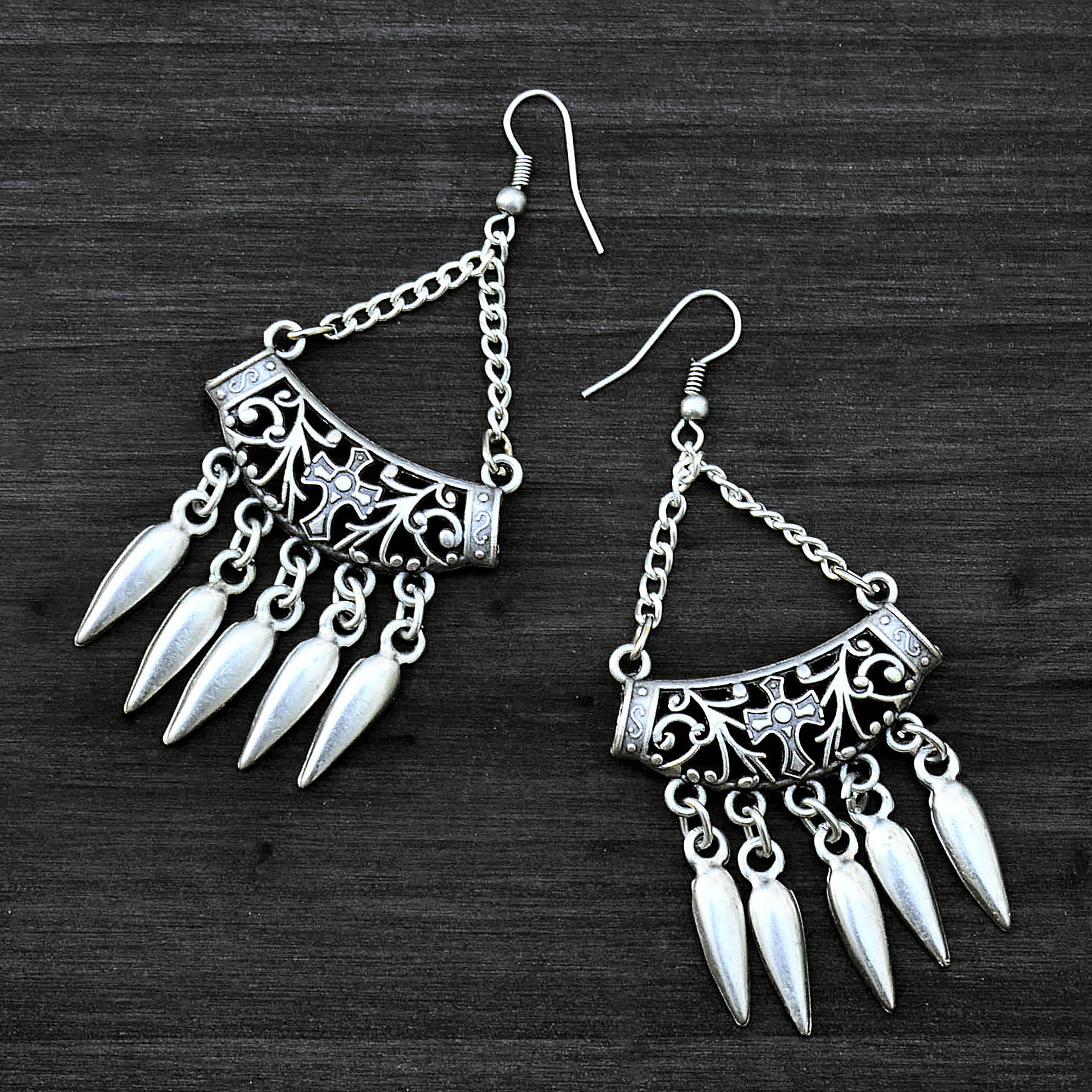 Gothic hanging earrings