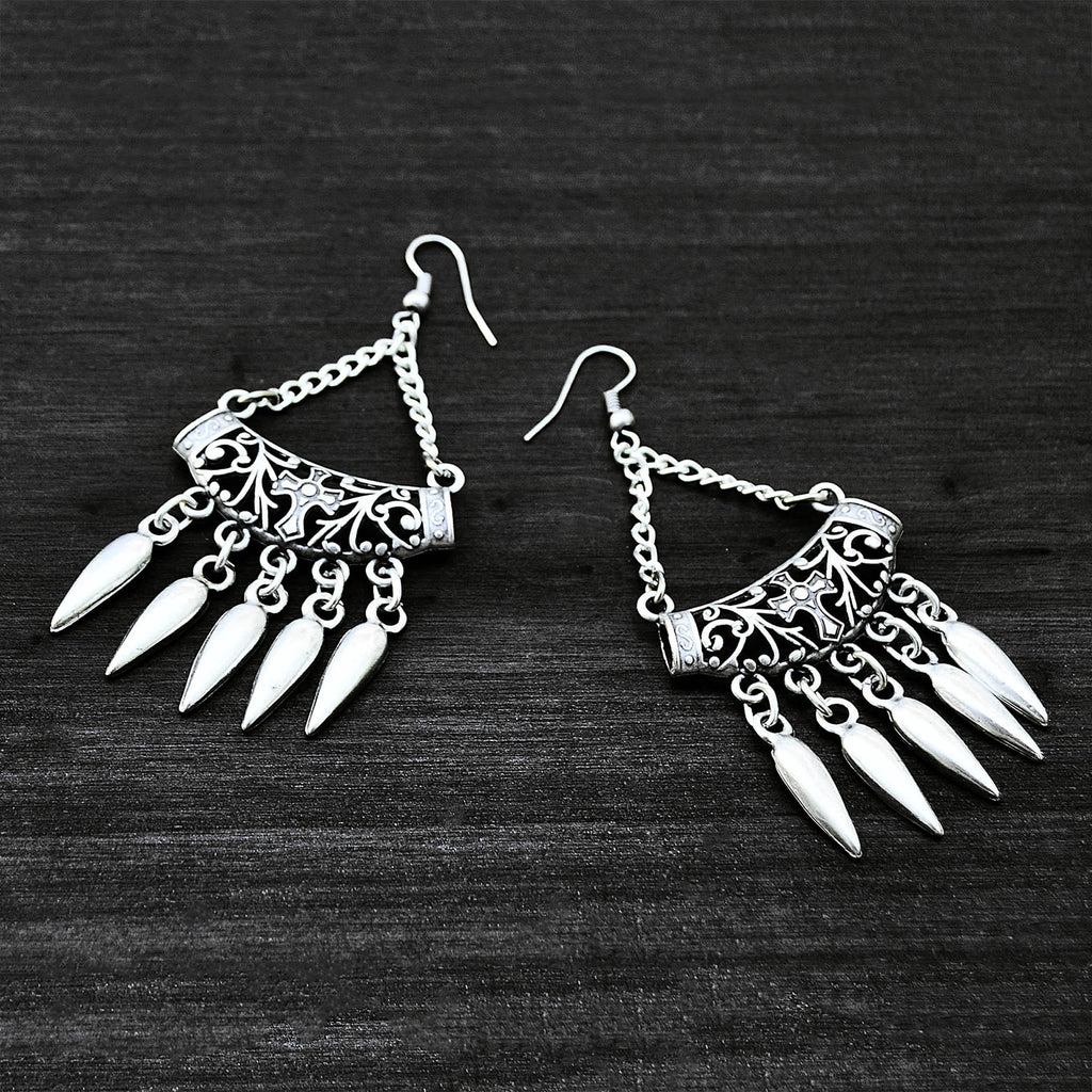 Silver hanging earrings