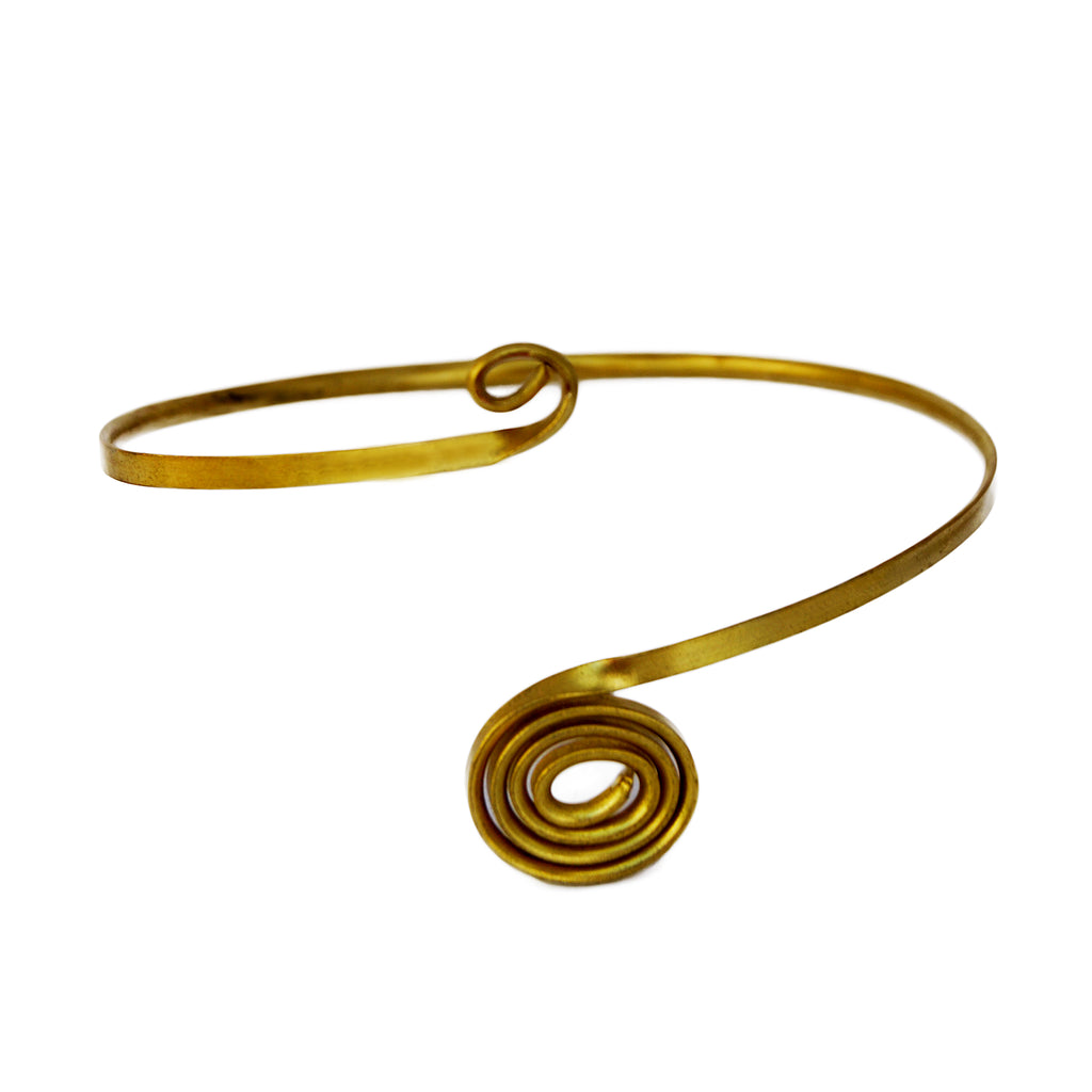 Gold Spiral Arm Band