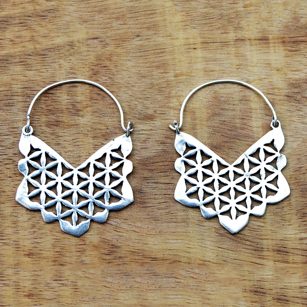 Geometric tribal earrings